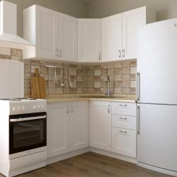 Кухня угловая Женева, белая 1.4x1.4 м  (DiPortes ™️)